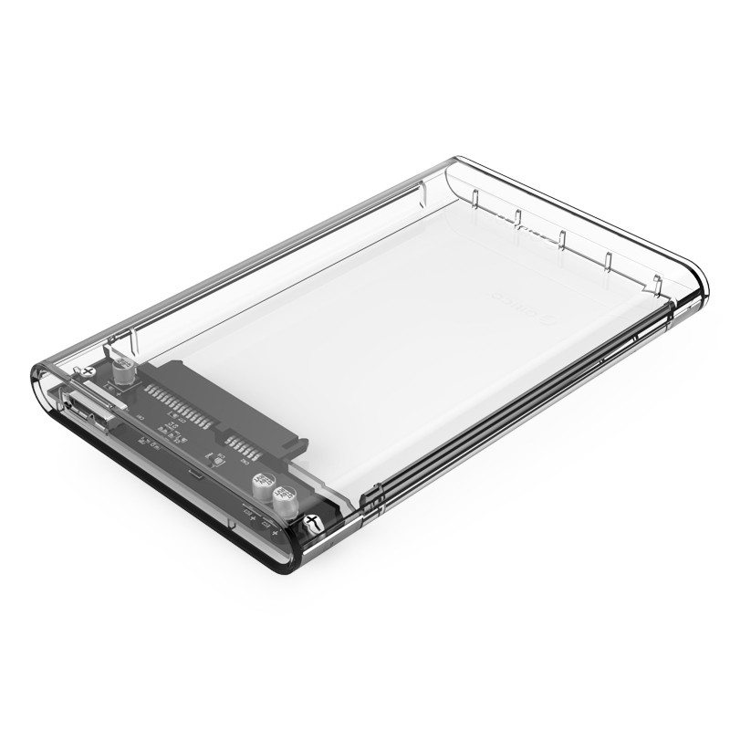 "Orico 2139U3 External 2.5"" Hard Disk SSD Enclosure Transparent"