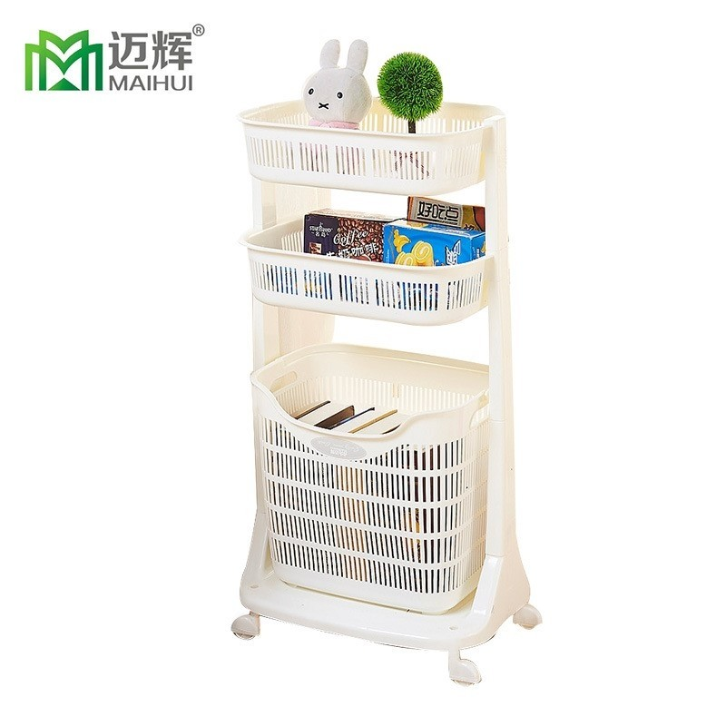 Maihui 3 Tier Laundry Sorter Basket with Wheels