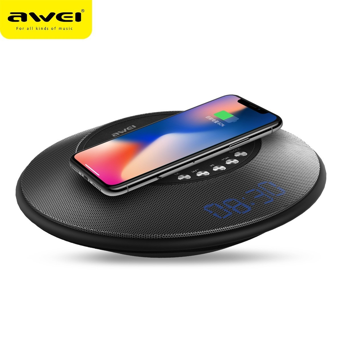 Awei Y290 Bluetooth Speaker with Wireless Charger