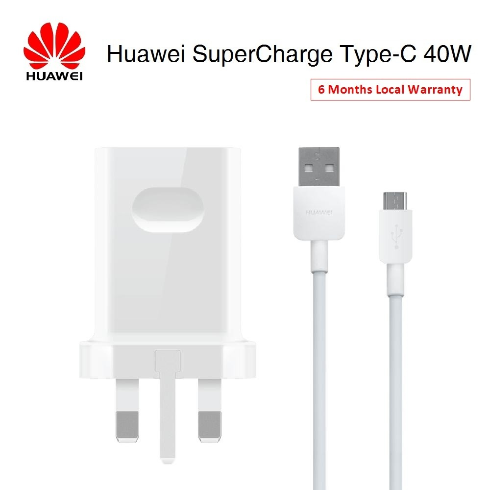 Huawei SuperCharge Max 40W Adapter with USB Type-C Cable