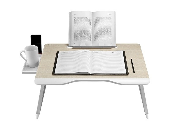 XGear G6 Foldable Laptop Table with Drawer and Book Stand