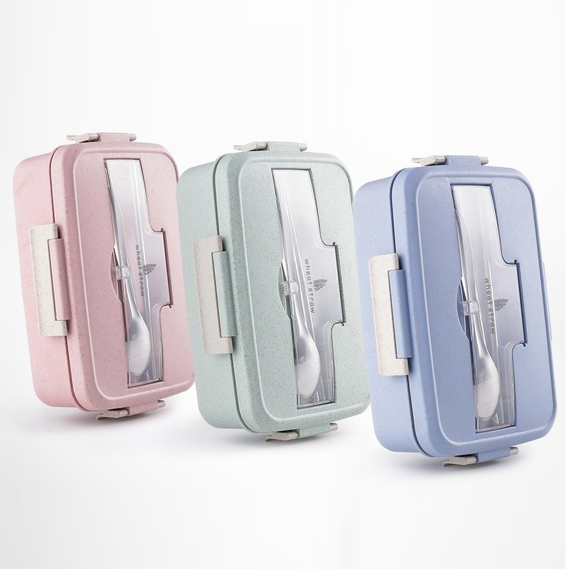 Beihe Wheatstraw Lunch Box with Free Cutlery