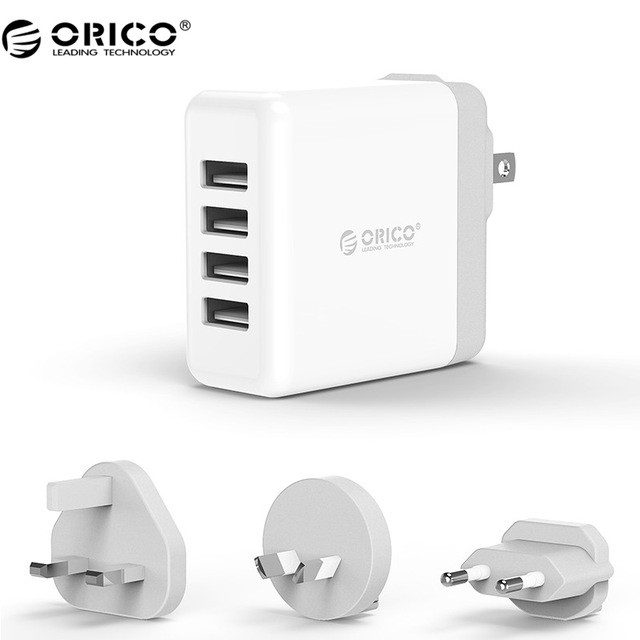 Orico Universal DSP-4U - 4 USB Port 2.4A 34W Wall Charger