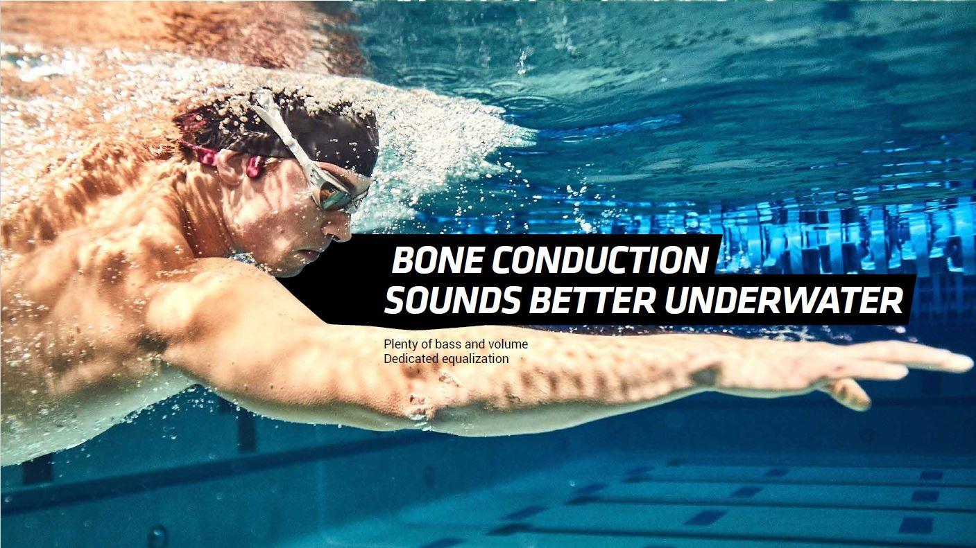 Aftershokz Xtrainerz Mp3 Bone Conduction Headphones Built-in Memory Waterproof