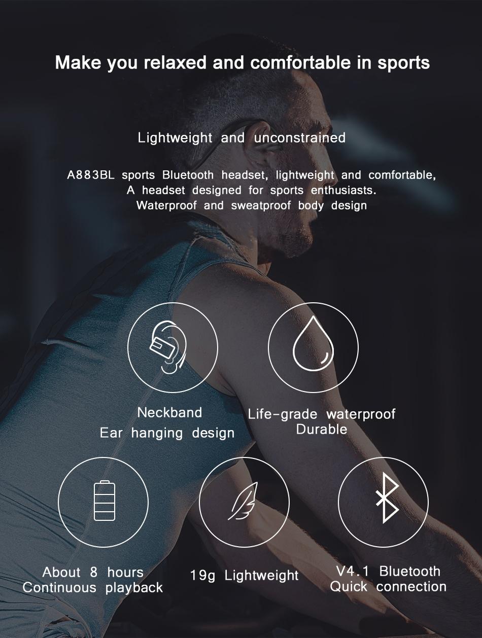 Awei A883BL Sports Bluetooth Earphones