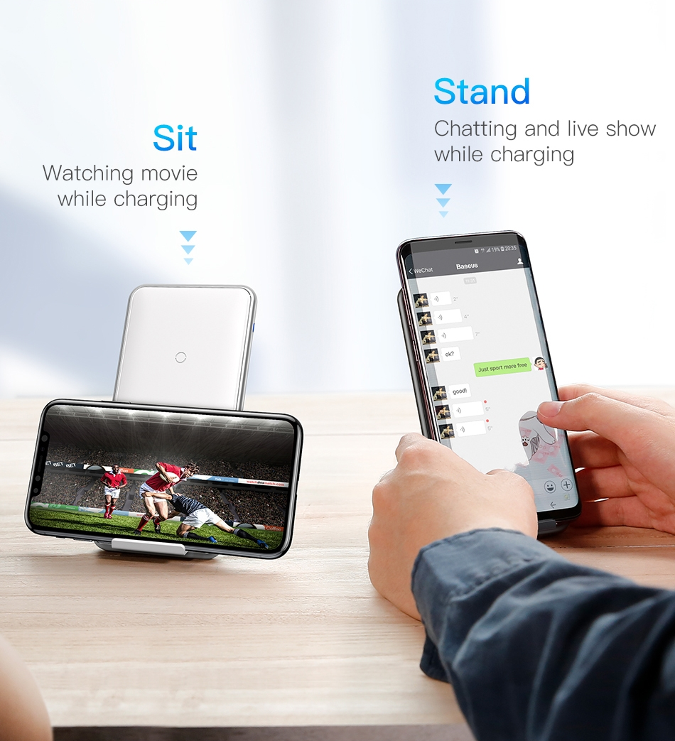 Baseus three 3 coils 10W Qi Wireless Charger Charging Pad