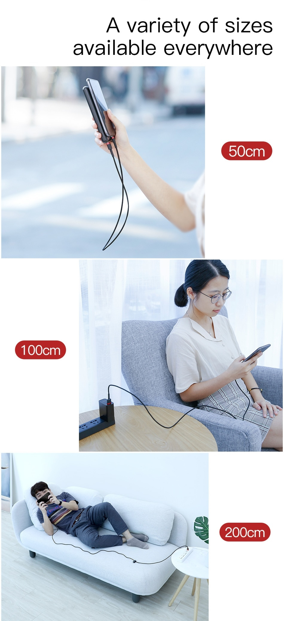 Baseus Micro USB Cable Reversible Charger Charging Data Mobile Phone