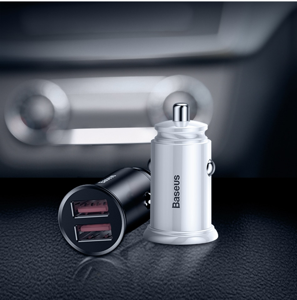 Baseus dual qc3.0 30W Fast Charging Car Charger