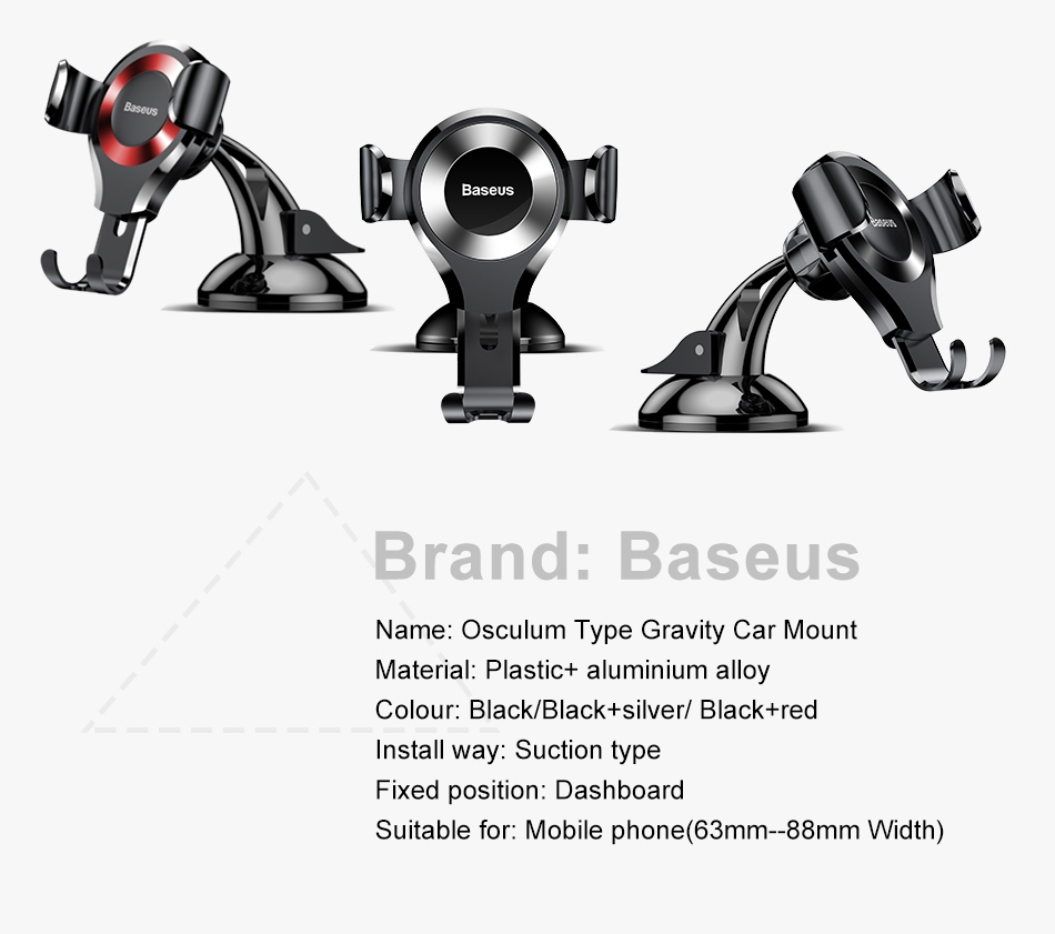 Baseus Osculum Type Gravity Universal Car Mount Holder Dashboard