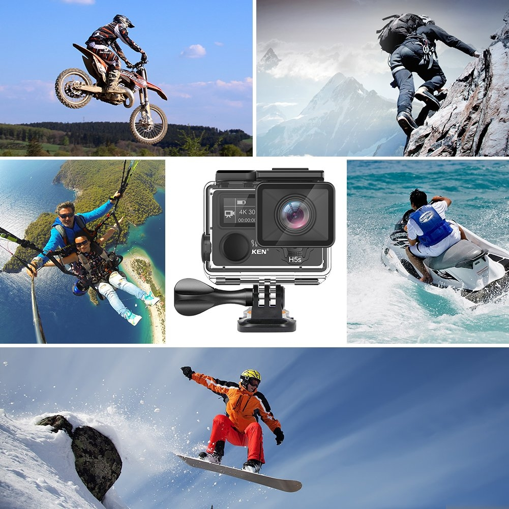 Eken H5s Plus Action Camera 4K Wifi Cam Wide Angle Sports Travel Budget EIS H9R