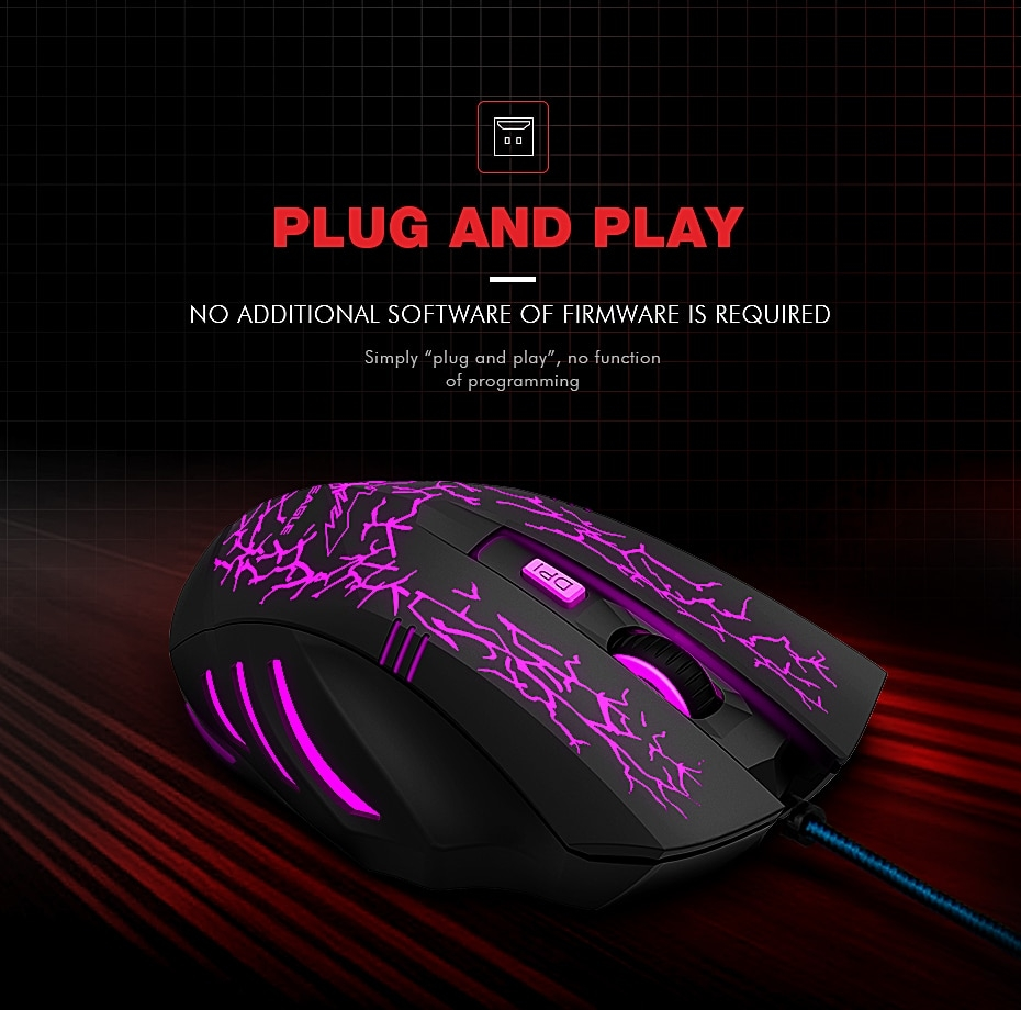 havit hv-ms672 Ergonomic Wired Gaming LED Mouse