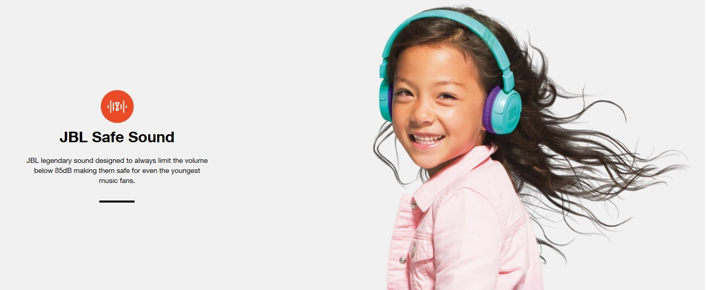 JBL JR300BT Wireless Bluetooth On-Ear Headphones Earphones Children Headset