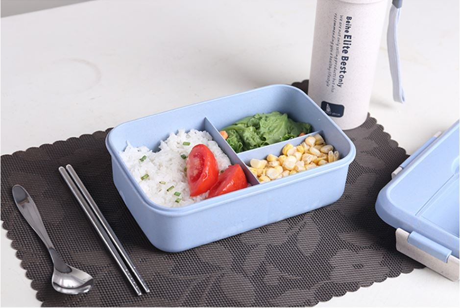 Beihe Wheat Straw Bento Lunch Box Food Container Travel Work