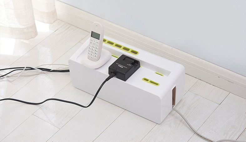 Maihui Phone Cable Management Box Large Power Extender Cover Wire Organizer