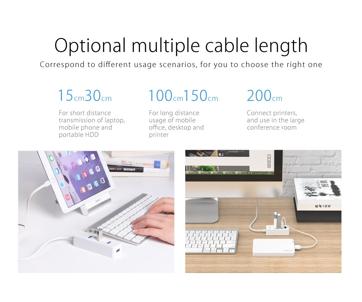 Orico W5P-U3 W5PU3 4 Port USB3.0 HUB with Micro B Power Port USB Extension