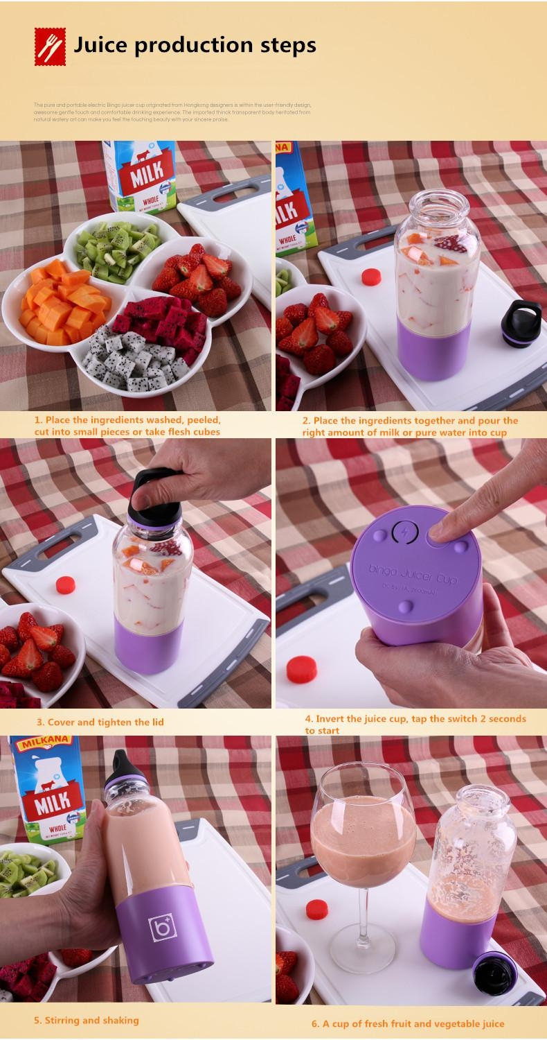 Bingo Juicer Cup Blender Bottle Diet Smoothie